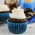#ad, #DelightfulMoments #SplashOfDelight, Almond Joy Cupcakes, International Delight Coffee Creamer recipe, dessert, coconut recipe,