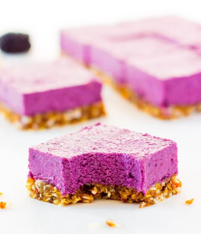 blackberry cheesecake, vegan cheesecake, no bake dessert, summer dessert