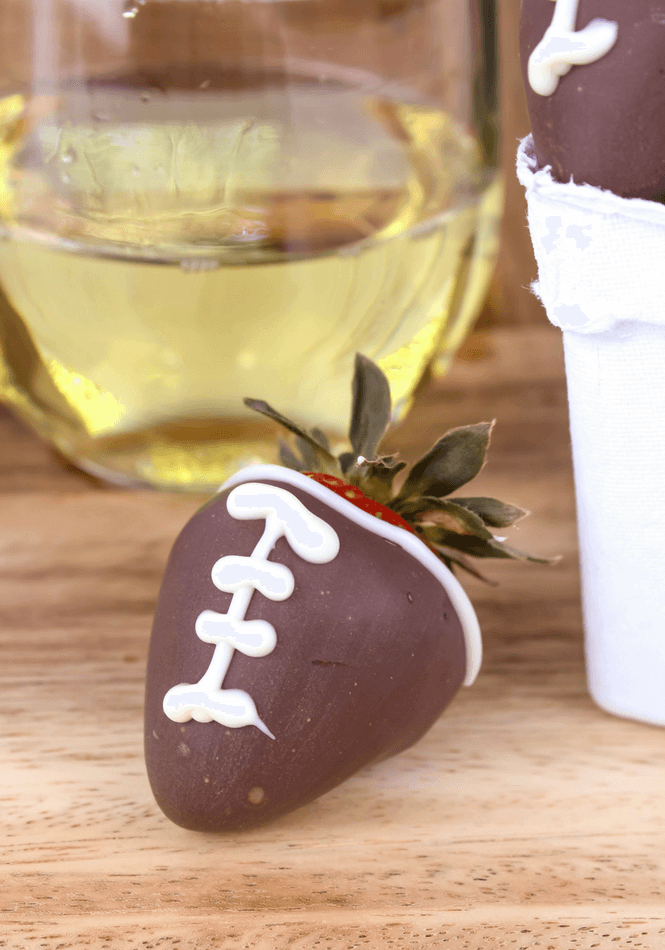 Chocolate Covered Strawberry Footballs Simply Made Recipes
