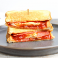 Pepperoni Pizza Grilled Cheese Sandwich, mozzarella, pepperoni, pizza recipe, grilled cheese recipe, quick family dinner
