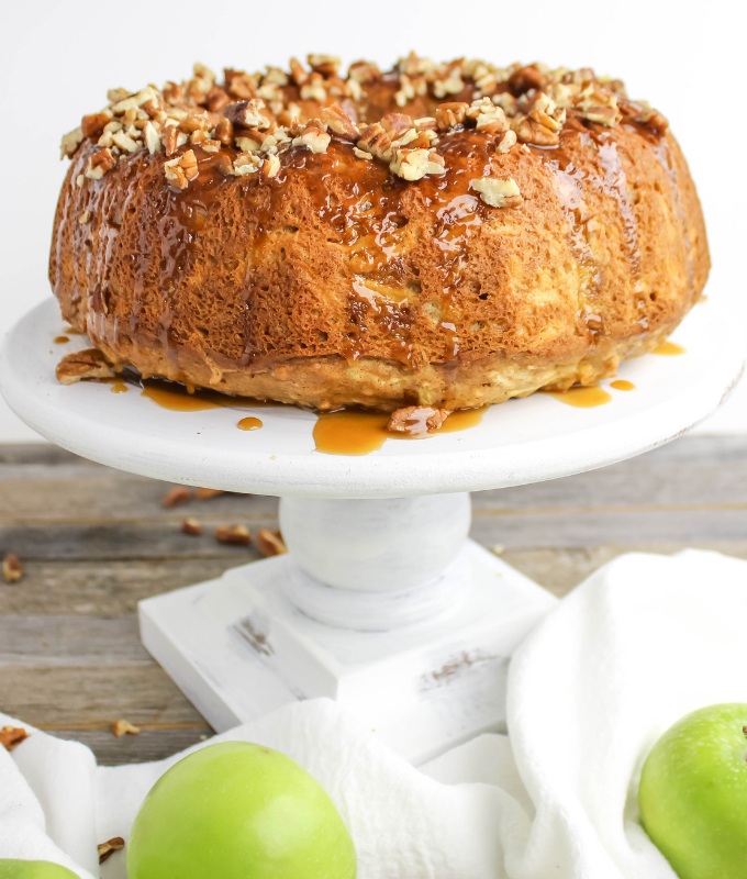 #ad, #ToraniSauceObsession, @Walmart, Caramel Apple Bundt Cake, Torani Sauces, Torani Caramel Sauce recipe, Thanksgiving dessert, fresh apple cake