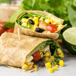 #ad, Southwest Chicken Wrap, @tysonbrand Grilled & Ready® Fully Cooked Oven Roasted Diced Chicken Breast, lunch idea, lunch wrap, skinny chipotle mayonnaise