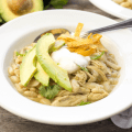 white chicken chili, crockpot chicken chili, slow cooker chili, northern beans recipe
