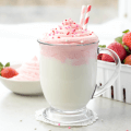 White Hot Chocolate with Strawberry Whipped Cream, how to make flavored whipped cream, Valentine's Day recipe, hot cocoa, pink whipped cream, pink hot chocolate