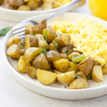 Air Fryer Breakfast Potatoes , air fryer recipes, how to cook potatoes in the air fryer, breakfast potatoes,