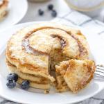 Cinnamon Swirl Pancakes, pancake brunch, cinnamon roll pancakes, pancake dessert