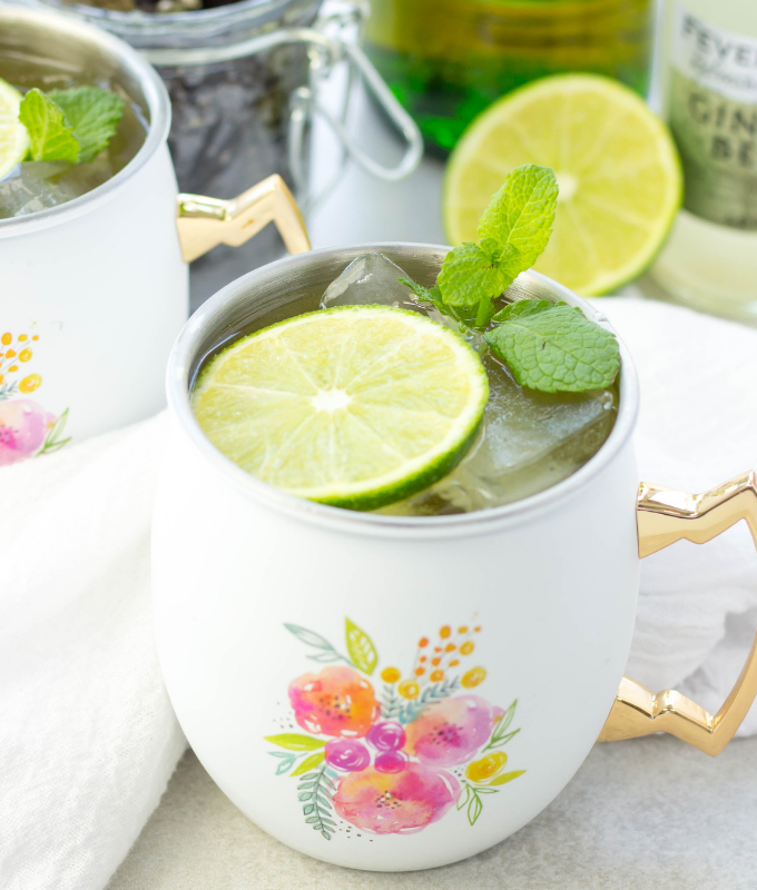 Irish Mule, Jameson Mule, Moscow Mule, St Patricks Day cocktail, Jameson cocktail, ginger beer, ginger beer cocktail