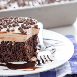 Chocolate Poke Cake, chocolate dessert, how to make a poke cake, chocolate whipped cream frosting, pot luck dessert, holiday dessert, Simply Made Recipes