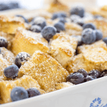 Blueberry French Toast Casserole | brunch ideas | recipes with fresh blueberries | how to make french toast casserole | Easter brunch | breakfast recipe