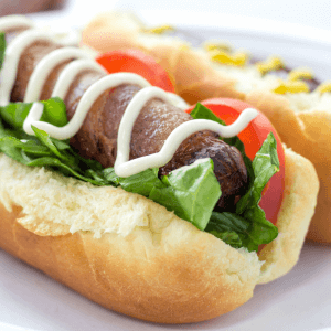 #ad BLT Hot Dogs , bacon wrapped hot dogs, summer recipes, @Walmart, #TurnUpSummer