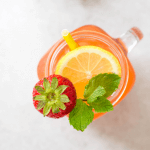 Strawberry Lemonade, summer beverage, strawberry drink, how to make lemonade, non alcoholic beverage