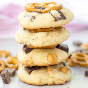 Sweet and Salty Cookies, pretzel cookies, butterscotch cookies, how to make cookies