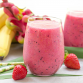 Tropical Dragon Fruit Smoothie, tropical smoothie, pre workout smoothie, dragon fruit recipe, breakfast, summer recipe