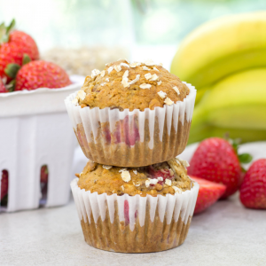 Strawberry Banana Oatmeal Muffins, healthy muffin recipe, oatmeal muffins, eggless muffin, snack ideas, breakfast recipe