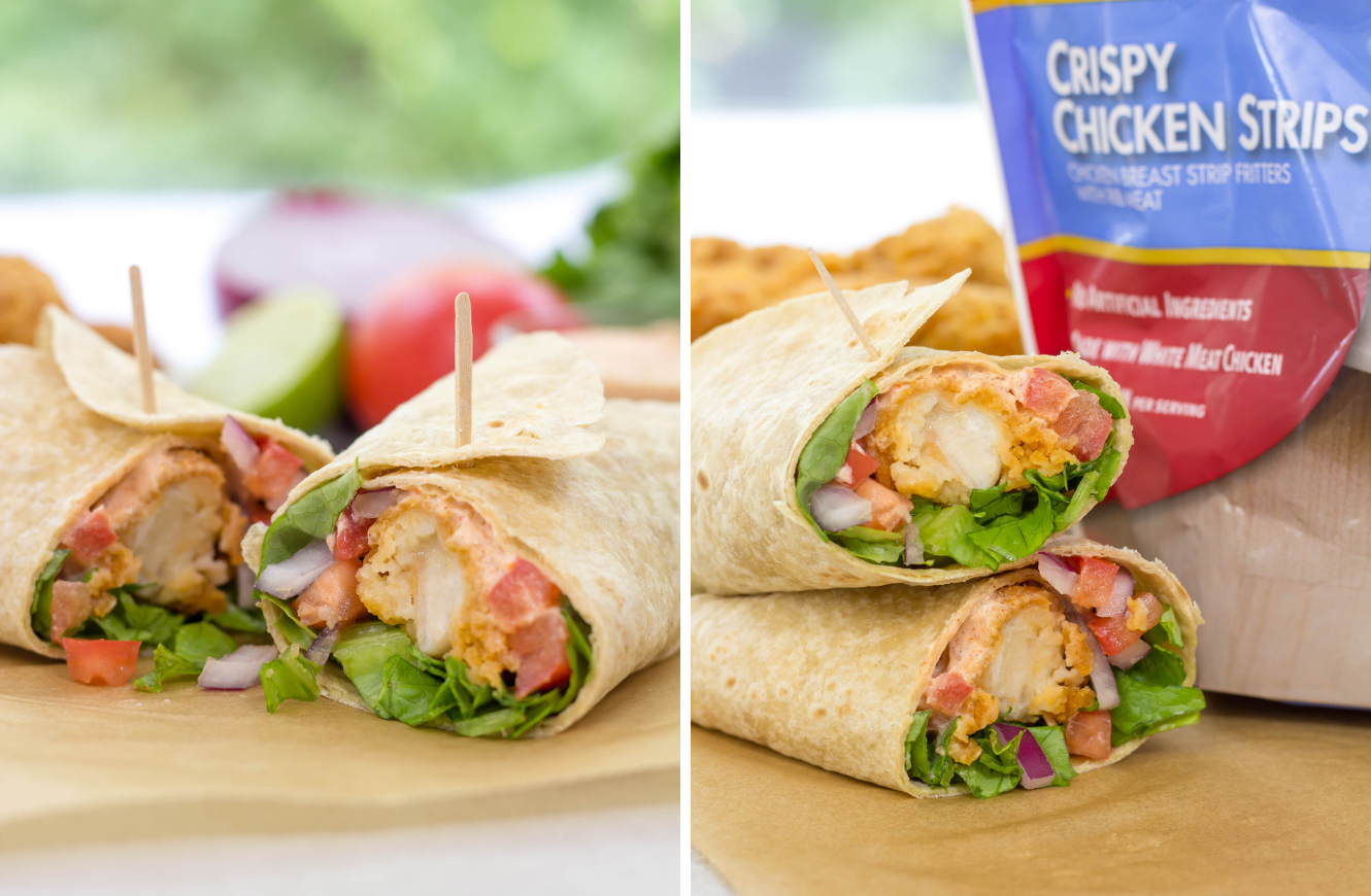 Crispy Chicken Strip Wrap Simply Made Recipes