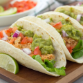 Salsa Chicken Tacos, salsa chicken, crockpot salsa chicken, instant pot salsa chicken, chicken tacos, tacos with guacamole, easy dinner recipe, kid friendly chicken recipe, taco recipe