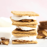 Microwavable S'mores, how to microwave s'mores, kid friendly desserts, peanut butter cup s'mores, summer recipes, 3 ingredient dessert