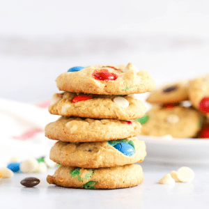 M&M Pudding Cookies, cookies with pudding, simple cookie recipe, chewy cookies, dessert recipe, M&M recipe, #cookies