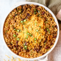 Chili Mac, cheesy chili mac, chili mac n cheese, Aldi meal, dinner under 10 ingredients, family friendly recipe, aldi recipe, pasta recipe, easy dinner idea