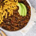 Taco Chili, taco soup, easy chili recipe, Aldi meal, Aldi dinner, recipes for cold weather, chili with beans