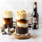 Boozy Peanut Butter Root Beer Floats, adult root beer float, boozy root beer cocktail, whiskey recipe, peanut butter whiskey recipe, skrewball whiskey recipe, how to make a root beer float, peanut butter dessert,