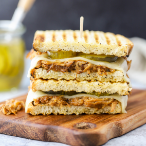 BBQ Chicken Panini Sandwiches, panini recipe, sandwich ideas, barbecue chicken recipe, what to make in my panini press, havarti cheese, Aldi recipe ideas, Aldi meal ideas, quick dinner, family dinner
