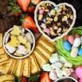 Easter Dessert Board, Easter snack board, Easter dessert ideas, hosting Easter, candy board, chocolate board, sack boards, dessert board ideas